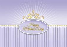Lyckliga moders dag design i skuggor av lilor Royaltyfria Bilder