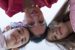 Lyckliga moders dag med barn royaltyfria bilder