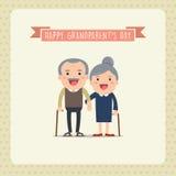lyckliga morföräldrar Fotografering för Bildbyråer