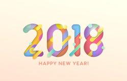 2018 lyckliga nya år Royaltyfri Foto