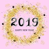 2019 lyckliga nya år royaltyfri illustrationer