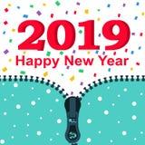 2019 lyckliga nya år vektor illustrationer