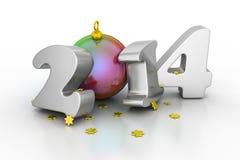 2014 lyckliga nya år Arkivfoto