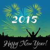 2015 lyckliga nya år vektor illustrationer