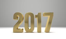2017 lyckliga nya år 3d framför Arkivfoto