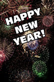 Lyckliga nya år Eve Holiday Fireworks Display Arkivbild