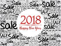 2018 lyckliga nya år försäljning Royaltyfria Bilder
