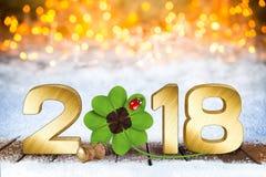 Lyckliga nya år helgdagsaftonsilvesterbakgrund Arkivfoton