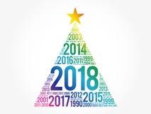 2018 lyckliga nya år och föregående år vektor illustrationer