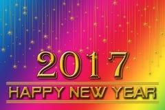 2017 lyckliga nya år regnbågebakgrund Royaltyfri Fotografi