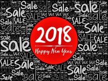 2018 lyckliga nya år Sale jul Fotografering för Bildbyråer