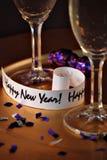 lyckliga nya år Arkivfoto