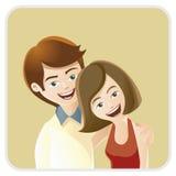 lyckliga par royaltyfri illustrationer