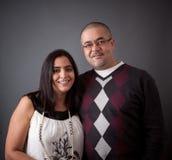 Lyckliga par för östlig indier arkivfoto