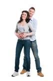 lyckliga par tillsammans Royaltyfri Foto