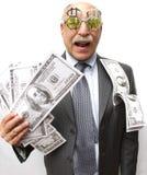 Lyckliga pengar Arkivbilder