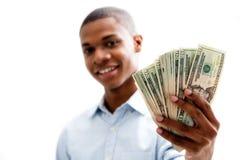 lyckliga pengar Royaltyfri Foto