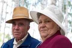 lyckliga pensionärer Royaltyfri Foto