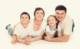 Lyckliga personer för familj fyra Royaltyfri Fotografi