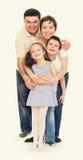 Lyckliga personer för familj fyra Royaltyfria Foton