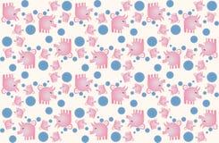 lyckliga pigs Royaltyfri Illustrationer