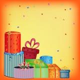 lyckliga presents för födelsedag royaltyfri illustrationer