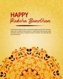 Lyckliga Raksha Bandhan Illustration med rakhi royaltyfri illustrationer
