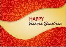 Lyckliga Raksha Bandhan Illustration med rakhi vektor illustrationer