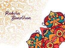 Lyckliga Raksha Bandhan Illustration med rakhi stock illustrationer
