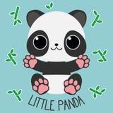 Lyckliga sammanträdearmar för liten panda öppnar vektor illustrationer