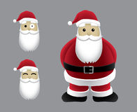Lyckliga Santa Cartoon Vector Illustration Royaltyfria Foton