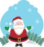 Lyckliga Santa som önskar dig glad jul Fotografering för Bildbyråer