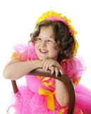 Lyckliga Shirley Temple Impersonator Fotografering för Bildbyråer