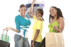 lyckliga shoppare Royaltyfria Foton