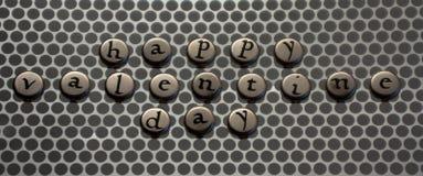 lyckliga silvervalentiner för dag Arkivfoton