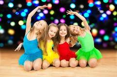 Lyckliga små ballerina Royaltyfri Foto