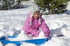 Lyckliga snöig ferier Royaltyfri Fotografi