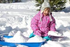 Lyckliga snöig ferier Arkivfoto