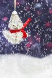 Lyckliga snowmen Royaltyfria Bilder