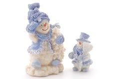 lyckliga snowmen två Arkivfoto