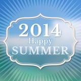 2014 lyckliga sommar. Vektor Illustrationer