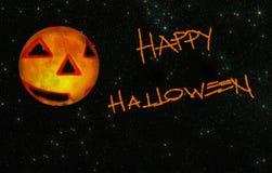 Lyckliga stjärnklara halloween Arkivbilder