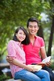 Lyckliga studenter Fotografering för Bildbyråer