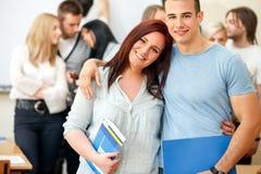 Lyckliga studenter royaltyfria bilder
