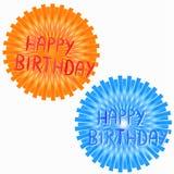 lyckliga symboler för födelsedag stock illustrationer