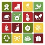 Lyckliga symboler för nytt år royaltyfri illustrationer