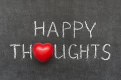 lyckliga tankar Arkivbilder
