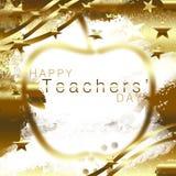 Lyckliga Teachers& x27; Dag royaltyfri illustrationer
