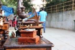 Lyckliga tider för grammofonrekord inte så Fotografering för Bildbyråer