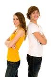 lyckliga tonåringar Arkivbild